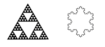 koch snowflake and serpinski triangle